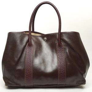 Auth Hermes Garden Party Tote Bag Brown #6746H20